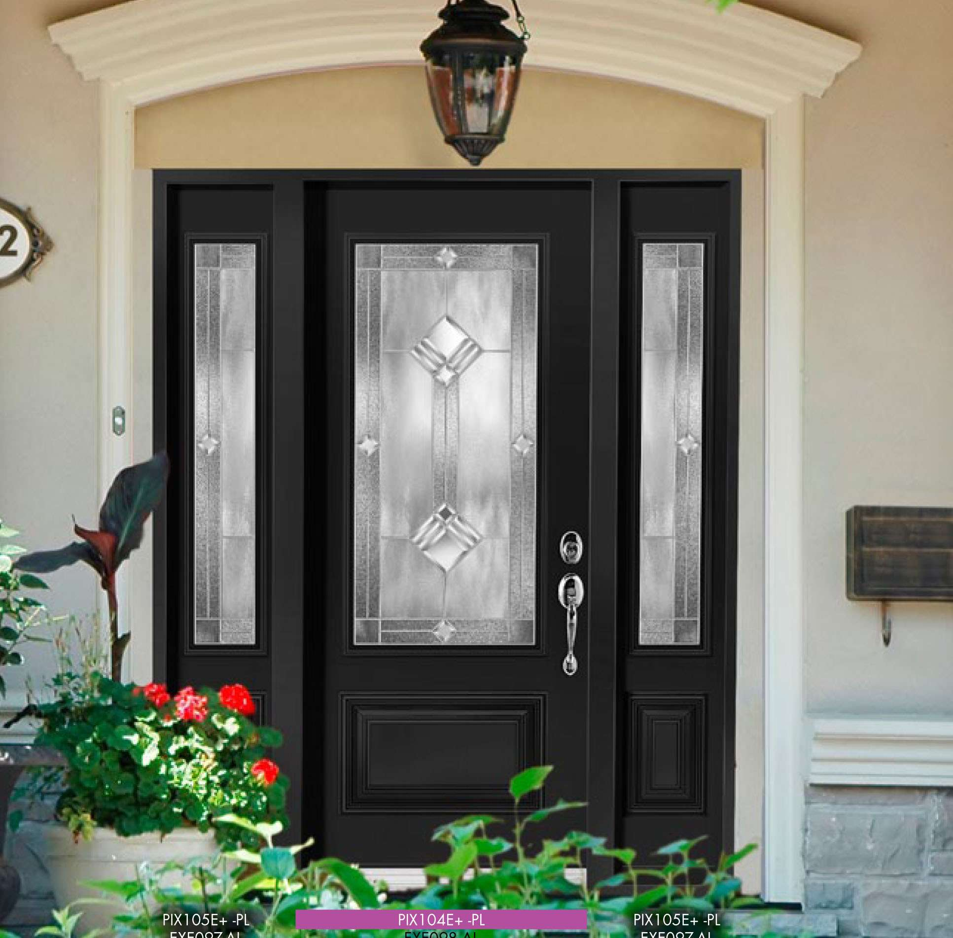 Feng shui your front door brock doors windows ltd for Glass door in front of exterior door